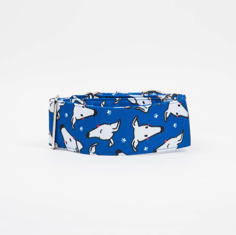 "Collar martingale azul ""Caralápiz"""
