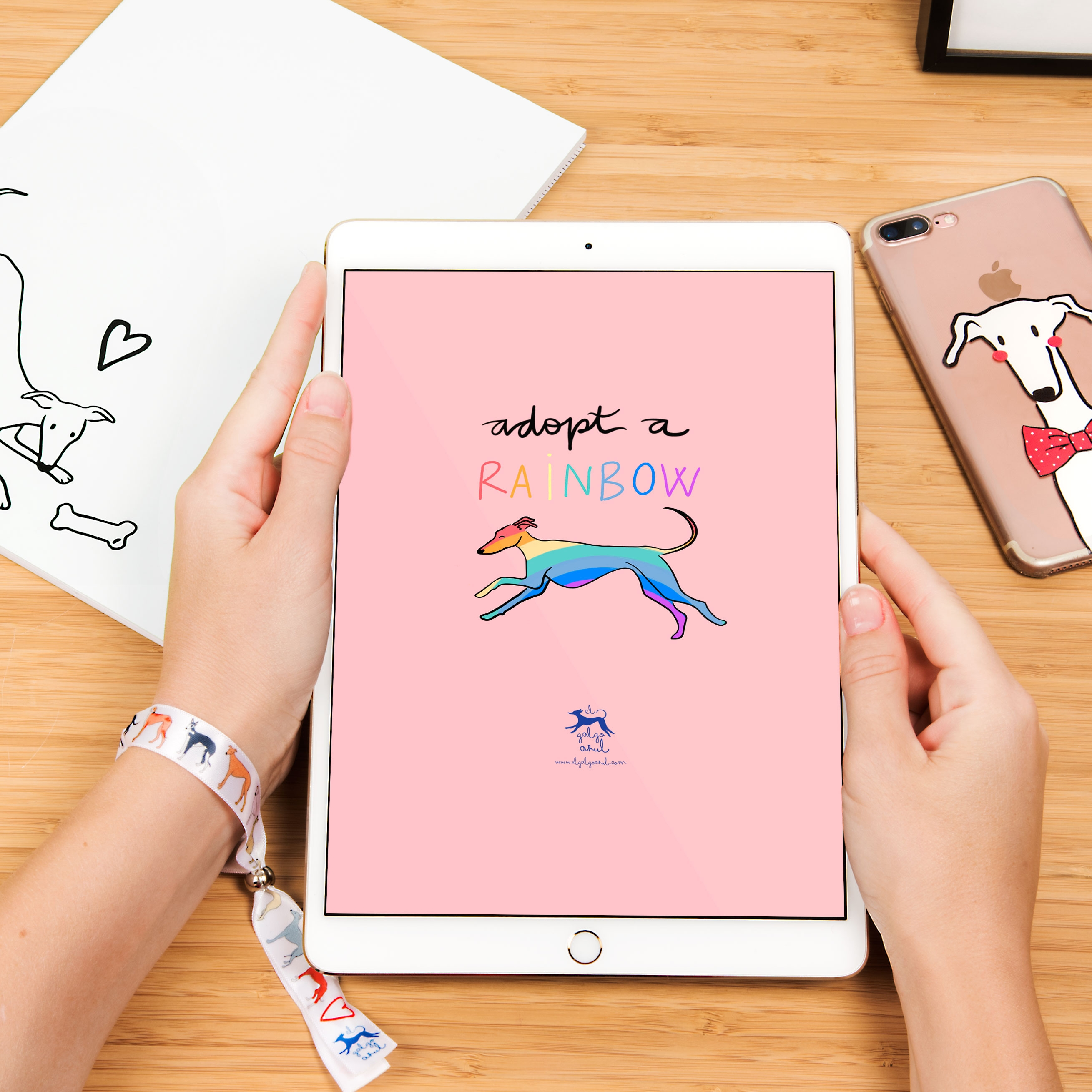 Wallpaper Rainbow Tablet