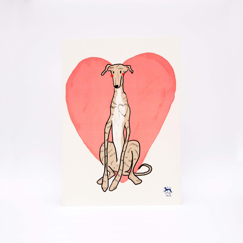 Corazón de galgo A4