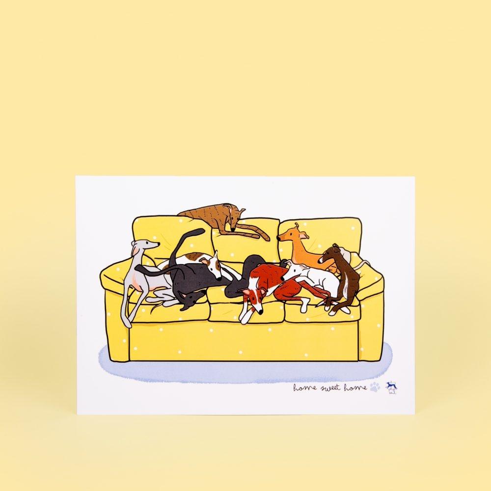 Lámina Galgos de sofá